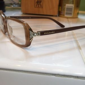 BVLGARI eyeglasses Carmel color crystal accents